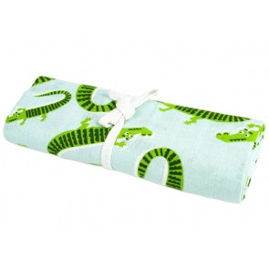 Briljant Baby Hydrofiele Swaddle Naughty Crocodile