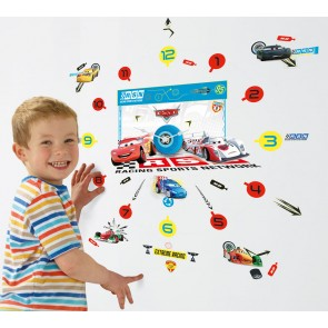 Cars Klok met Stickers