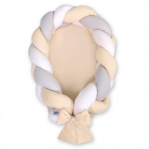 My Sweet Baby Babynestje 2-in-1 Beige-Grijs-Wit