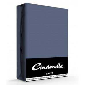 Cinderella Basic Hoeslaken Dark Blue Hoge Hoek - 40 cm