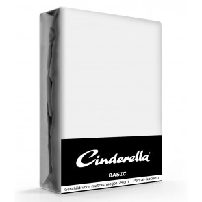 Cinderella Basic Hoeslaken Light Grey Hoge Hoek - 40 cm