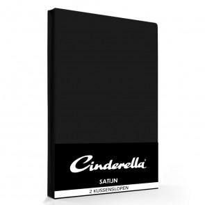 Cinderella Kussenslopen Satijn Black (2 stuks)