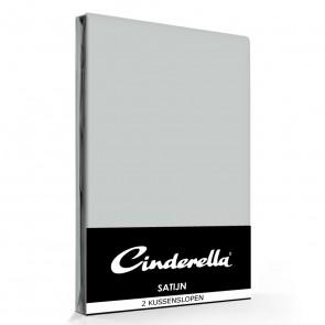 Cinderella Kussenslopen Satijn Light Grey (2 stuks)