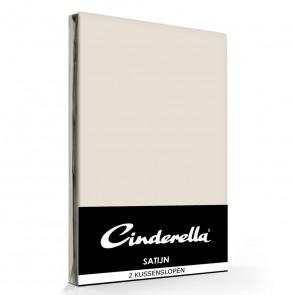 Cinderella Kussenslopen Satijn Taupe (2 stuks)