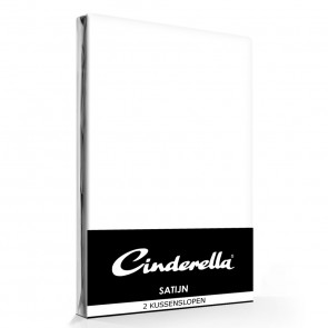 Cinderella Kussenslopen Satijn White (2 stuks)