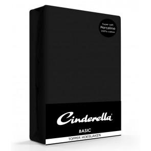 Cinderella Topper Hoeslaken Basic Percaline Black