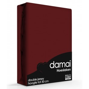 Damai Multiform Double Jersey Hoeslaken Burgundy