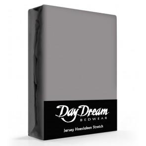 Day Dream Jersey Hoeslaken Donkergrijs-90 x 200 cm