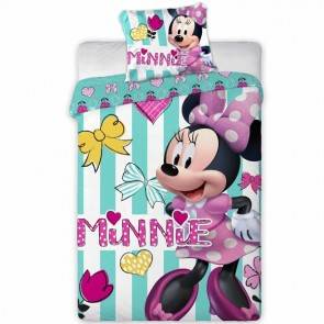 Disney Minnie Mouse Dekbedovertrek Stripes