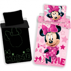 Disney Minnie Mouse Dekbedovertrek Glow in the Dark
