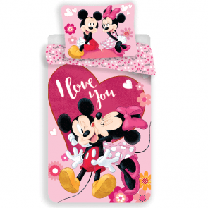 Disney Minnie Mouse Dekbedovertrek I Love You