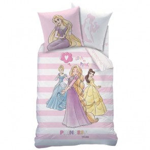 Disney Princess Stripes Dekbedhoes met Sloop