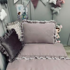 Dolly Beddengoedset met Vulling Ruffles Lavendel