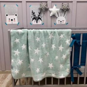Dolly Fleece Deken Sterren Mint