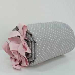 Dolly-Hoofdbeschermer-Dots-Grijs-Roze