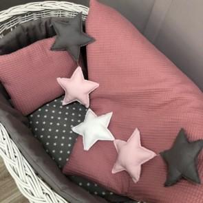 Dolly Slinger Stars Roze, Antraciet, Wit
