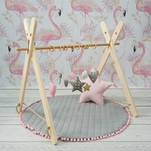 Dolly Speelkleed Pompoentjes Grijs/Roze