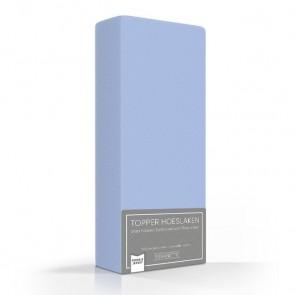 Romanette Double Jersey Topper Hoeslaken Blue