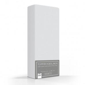 Romanette Double Jersey Topper Hoeslaken Silver