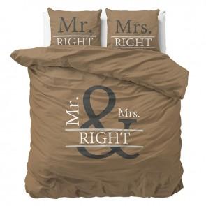 Dreamhouse Dekbedovertrek Mr And Mrs Right 2 Brown