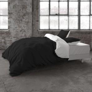 Dreamhouse Dekbedovertrek Two Tone White Black - 100% katoen - Eenvoudig te bestellen bij slaaptextiel.nl - aan twee kanten te gebruiken