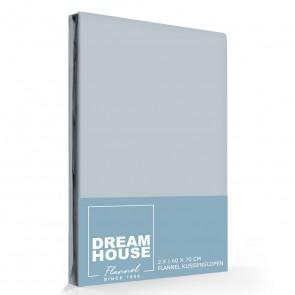 Dreamhouse Flanellen Kussenslopen Grijs (2 stuks)