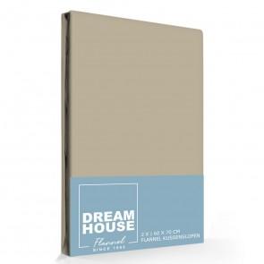 Dreamhouse Flanellen Kussenslopen Taupe (2 stuks)