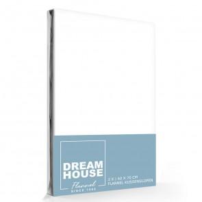 Dreamhouse Flanellen Kussenslopen Wit (2 stuks)