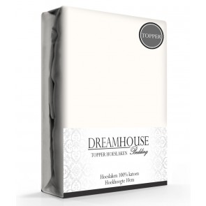 Dreamhouse Topper Hoeslaken Katoen Créme
