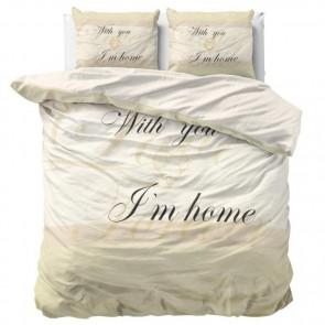 Dreamhouse Dekbedovertrek With You Cream