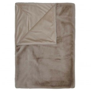 Essenza plaid Furry Taupe 150 x 200 cm