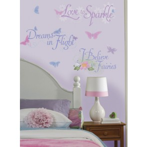 Fairies Glitter Muurstickers (RoomMates)