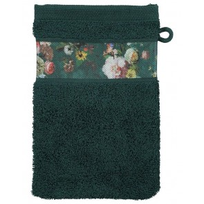 Essenza Washandje Fleur Dark Green