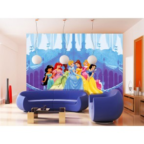 Disney Princesses In Castle Fotobehang 4D (AG Design)