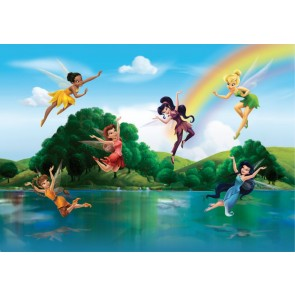 Fairies With Rainbow Fotobehang 4D (AG Design)