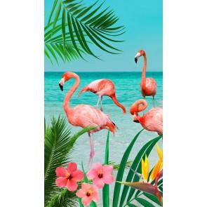 Good Morning Strandlaken Flamingo