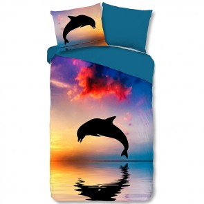Goodmorning Dekbedovertrek Dolfijn Multi