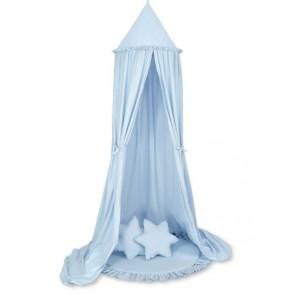 Hangende Speeltent + Vloerkleed + Kussens Blauw