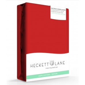 Heckett & Lane Hoeslaken Satijn Aurora Red