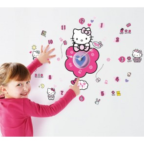 Hello Kitty Klok met Stickers