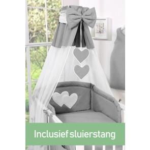 My Sweet Baby Hemeltje Strik Antraciet (incl Sluierstang)