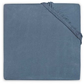 Little Lemonade Hoeslaken Jersey 60x120cm Faded Blue
