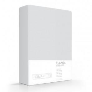 Flanellen Hoeslaken Zilver Romanette