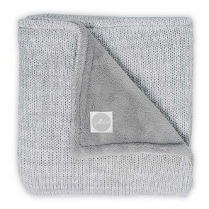 Jollein Deken Melange Knit Fleece Soft Grey 75x100cm