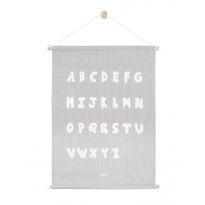 Jollein Poster ABC Soft Grey 42x60cm