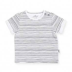 Jollein T-shirt Black Stripes 50/56