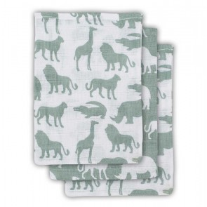 Jollein Washandje Safari Forest Green (3st)