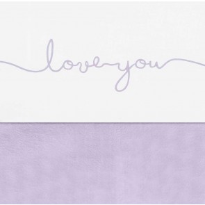 Jollein Wieg Laken 75x100cm Love You Lilac