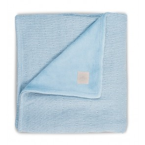 Jollein Deken Soft Knit Teddy 75x100cm Soft Blue