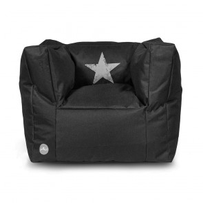 Jollein Fauteuiltje Beanbag Faded Star Black